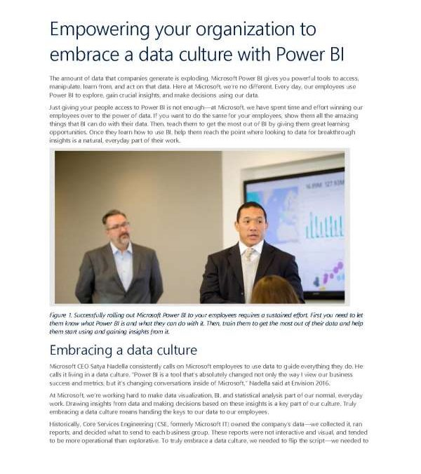 Empowering your organization to embrace a data culture with Power BI