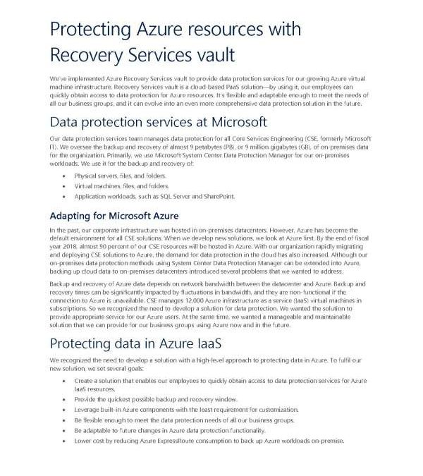 Protecting Azure resources with Recovery Services vault